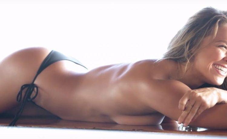 Ronda Rousey (Credit: Screenshot/Youtube Sports Illustrated Swimsuit)