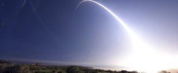 A Minuteman III intercontinental ballistic missile (ICBM) test launch at Vandenberg Air Force Base, California at 11:01 p.m. On February 25, 2016. REUTERS/Kyla Gifford/U.S. Air Force Photo/Handout via Reuters