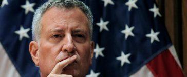 New York City Mayor Bill de Blasio: Brendan McDermid/Reuters