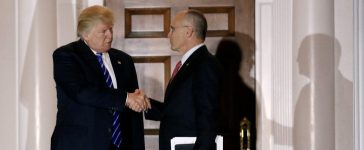 Andy Puzder meets with Donald Trump: Reuters/Mike Sega