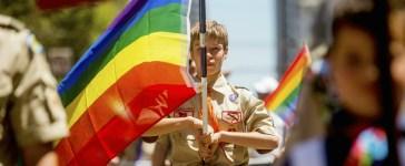 Boy Scouts gay pride parade Reuters/Noah Berger