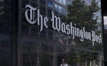 The Washington Post's lobby. BRENDAN SMIALOWSKI/AFP/Getty Images