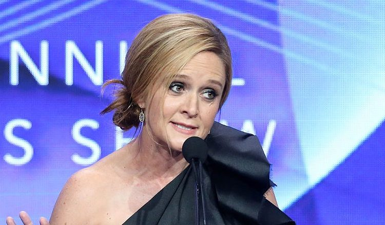TV personality Samantha Bee accepts the award for 'Outstanding Achievement in News and Information' onstage at the 32nd annual Television Critics Association Awards during the 2016 Television Critics Association Summer Tour at The Beverly Hilton Hotel on August 6, 2016 in Beverly Hills, California. (Photo by Frederick M. Brown/Getty Images)