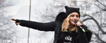 Madonna performs onstage during the Women's March on Washington on January 21, 2017 in Washington, D.C. (Photo by Theo Wargo/Getty Images)