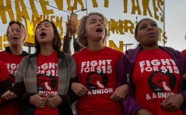 Workers Across The Country Demonstrate For Higher Minimum Wage: Getty Images/David McNew