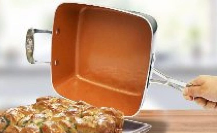This Gotham Steel deep square pan has been called the 'breakthrough pan of the year' (Photo via Amazon)