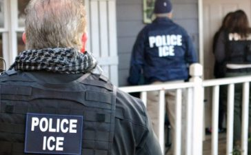 In this handout provided by U.S. Immigration and Customs Enforcement, Foreign nationals were arrested this week during a targeted enforcement operation conducted by U.S. Immigration and Customs Enforcement (ICE) aimed at immigration fugitives, re-entrants and at-large criminal aliens February 9, 2017 in Atlanta. (Photo by Bryan Cox/U.S. Immigration and Customs Enforcement via Getty Images)