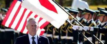 U.S. Defense Secretary Jim Mattis reviews the honour guard before a meeting with Japan's Defense Minister Tomomi Inada at the Defense Ministry in Tokyo, Japan, February 4, 2017. REUTERS/Toru Hanai