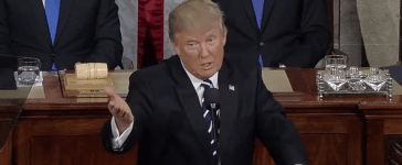President Donald Trump speaks at joint session of Congress, Feb. 28, 2017. (Youtube screen grab)