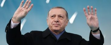 Turkish President Tayyip Erdogan greets his supporters during a ceremony in Afyonkarahisar, Turkey March 15, 2017. Murat Cetinmuhurdar/Presidential Palace/Handout via REUTERS