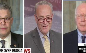 Al Franken, Chuck Schumer, Patrick Leahy (CNN, MSNBC, CNN)