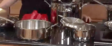 This is a Cuisinart collection of chef's classic cookware (Photo via Amazon Video)