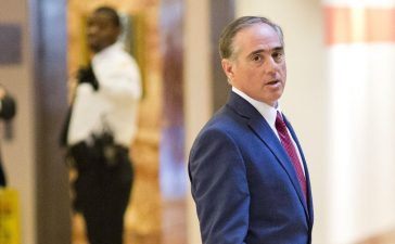David Shulkin, Under Secretary of Health for the US Department of Veterans Affairs, leaves Trump Tower in New York City, New York on January 9, 2017. Dominick Reuter/AFP/Getty Images.