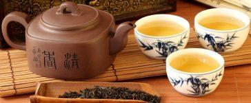 Chinese tea set ready for enjoyment. [Shutterstock - fotohunter]