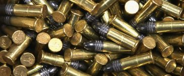 A box of 500 .22 cal. bullets are offered for sale at Freddie Bear Sports on October 18, 2012 in Tinley Park, Illinois. (Scott Olson/Getty Images)
