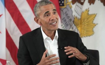 CHICAGO, IL - MAY 03: Former President Barack Obama moderates a roundtable discussion at the South Shore Cultural Center about the Obama Presidential Center, which is scheduled to be built in nearby Jackson Park, on May 3, 2017 in Chicago, Illinois. The Presidential Center design envisions three buildings, a museum, library and forum. Obama was accompanied at the event with his wife Michelle who was making her first trip back to Chicago since leaving the White House in January. (Photo by Scott Olson/Getty Images)