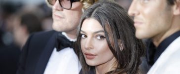 """CANNES, FRANCE - MAY 18: Emily Ratajkowski attends the """"Loveless (Nelyubov)"""" screening during the 70th annual Cannes Film Festival at Palais des Festivals on May 18, 2017 in Cannes, France. (Photo by Andreas Rentz/Getty Images)"""