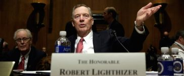 Robert Lighthizer gestures before a Senate Finance Committee confirmation hearing on his nomination to be U.S. trade representative on Capitol Hill in Washington, U.S., March 14, 2017. (Photo: REUTERS/Yuri Gripas)