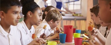 Children eating school lunch in the cafeteria (Photo: Shutterstock/Monkey Business Images)