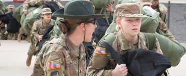 """Referred to as """"Day Zero"""" this marks the beginning of the recruit's journey through Basic Combat Training, where she will transition from a civilian to a Soldier."""