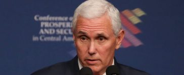 MIAMI, FL - JUNE 15: Vice President Mike Pence speaks during the Conference on Prosperity and Security in Central America at the Florida International University on June 15, 2017 in Miami, Florida. The conferance brought together government and business leaders from the United States, Mexico, Central America, and other countries to address the economic, security, and governance challenges and opportunities in El Salvador, Guatemala, and Honduras. (Photo by Joe Raedle/Getty Images)