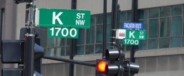 WASHINGTON, DC - MAY 2016: Street sign of Infamous K Street in Washington, DC, legendary home to lobbyists (although now K St, is mostly symbolic). (Credit: bakdc/Shutterstock)