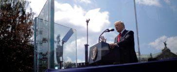 U.S. President Donald Trump gives a public speech at Krasinski Square in Warsaw, Poland July 6, 2017. REUTERS/Carlos Barria