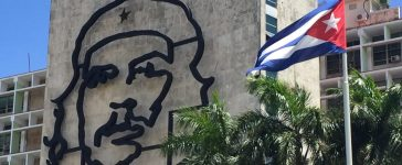 Che Guevara depicted on Cuban government building in Plaza de Revolucion in Havana (Robert Donachie/Daily Caller News Foundation)