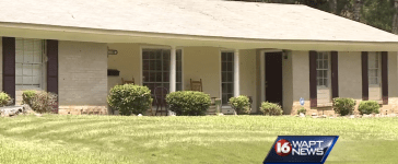 Officer Jenkins' home (screenshot/WAPT News)
