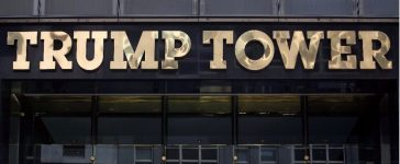 The Trump Tower logo is pictured in New York, U.S., May 23, 2016. REUTERS/Carlo Allegri