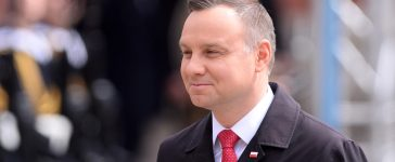 Shutterstock/ WARSAW, POLAND - MAY 02, 2017: National Flag Day - President of Poland Andrzej Duda