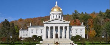 The State Capitol Building in Montpelier Vermont. Shutterstock/Victoria Lipov.