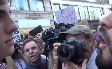 Boston Anti-Fascist Rally (Photo: Screenshot/The Daily Caller)