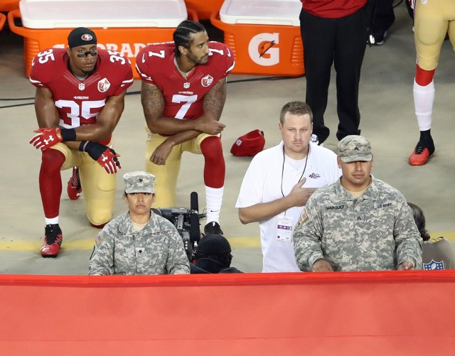 Kaepernick kneeling Getty Images/Ezra Shaw