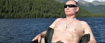 Russian President Vladimir Putin relaxes after fishing during the hunting and fishing trip which took place on August 1-3 in the republic of Tyva in southern Siberia, Russia, in this photo released by the Kremlin on August 5, 2017. Sputnik/Alexei Nikolsky/Kremlin via REUTERS
