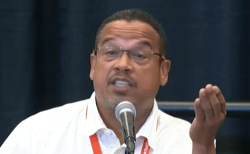 Minnesota Rep. Keith Ellison at Netroots Nation. (CSPAN Screenshot)