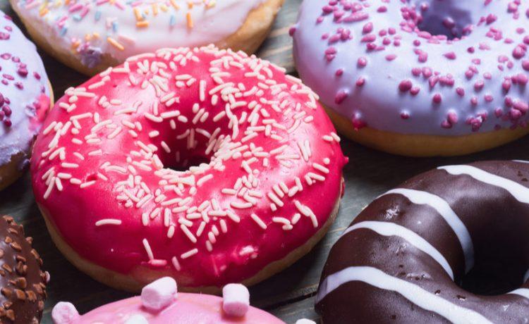 Shutterstock/ assorted donuts with chocolate frosted, pink glazed and sprinkles donuts. donutdoughnutbakedchocolatesugarassortedbackgroundbakerybreakfastcakecolorfuldeliciousdessertdoughfoodfrostedfrostingglazedicingpastrypinkroundsnackspacesprinklesstickysweettabletastytreatunhealthywoodenShow more