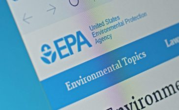SARANSK, RUSSIA - FEBRUARY 06, 2017: A computer screen shows details of United States Environmental Protection Agency main page on its web site. Selective focus. (Credit: g0d4ather/Shutterstock)