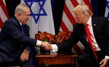 U.S. President Donald Trump meets with Israeli Prime Minister Benjamin Netanyahu in New York, U.S., September 18, 2017. REUTERS/Kevin Lamarque