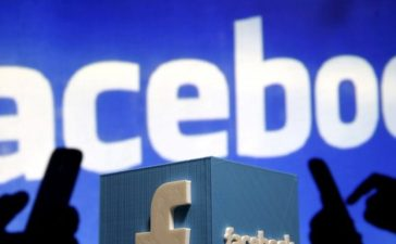 FILE PHOTO: A 3D plastic representation of the Facebook logo is seen in this photo illustration