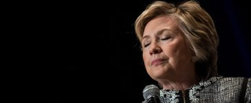 NEW YORK, NY - JUNE 1: Former U.S. Secretary of State and 2016 presidential candidate Hillary Clinton pauses while speaking during BookExpo 2017 at the Jacob K. Javits Convention Center, June 1, 2017 in New York City. Clinton will release her latest memoir in October via publisher Simon & Schuster. (Photo by Drew Angerer/Getty Images)