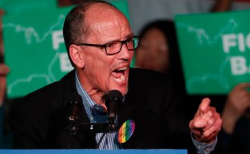 SALT LAKE CITY, UT - APRIL 21: DNC Chairman Tom Perez, speaks to a crowd of supporters at a Democratic unity rally at the Rail Event Center on April 21, 2017 in Salt Lake City, Utah. Sanders and Perez are holding several rallies around the country trying unify the Democratic party. (Photo by George Frey/Getty Images)