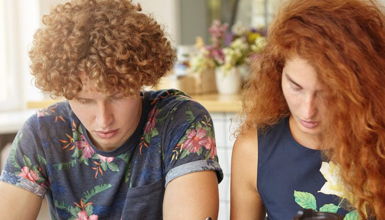 Curly-haired couple (Photo via Amazon)