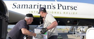 Samaritan's Purse DC-8 Cargo Plane On Relief Mission To Caribbean Following Hurricane Irma (photo provided to The Daily Caller News Foundation courtesy of Samaritan's Purse)