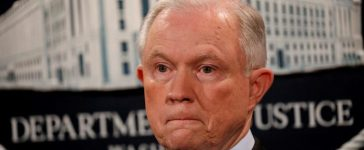 FILE PHOTO: U.S. Attorney General Jeff Sessions looks on during a news conference at the Justice Department in Washington, DC, U.S. on July 20, 2017. REUTERS/Aaron P. Bernstein/File Photo