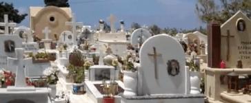 Graveyard in Greece. (Youtube screenshot/Peter Chacona)