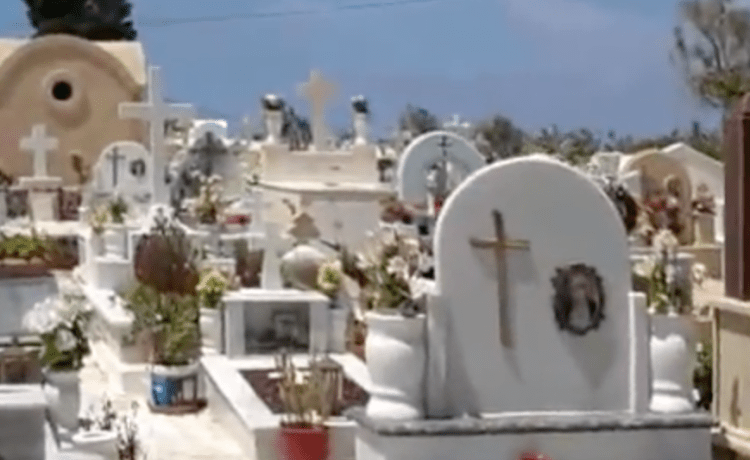 Graveyard in Greece. (Youtube screenshot/Peter Chacona)