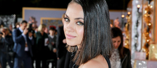 "Mila Kunis attends the premiere of STX Entertainment's ""A Bad Moms Christmas"" on October 30, 2017 in Los Angeles. (Photo by Rich Fury/Getty Images)"