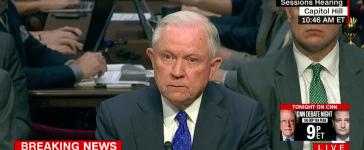Screen Shot Jeff Sessions (CNN: Oct 18, 2017)