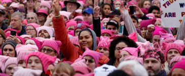 People gather for the Women's March in Washington U.S., January 21, 2017. REUTERS/Shannon Stapleton